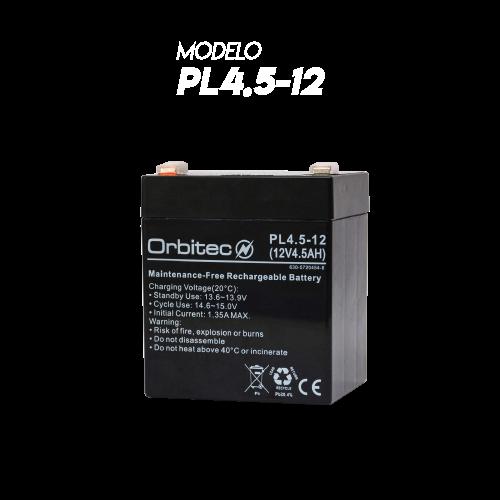 Baterías Orbitec Mod. PL4.5-12